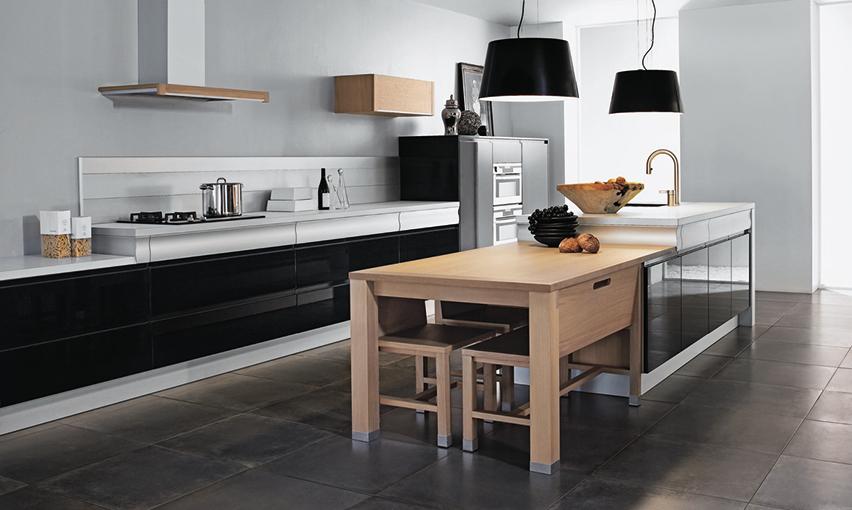 Une cuisine noire et conviviale rendez vous par thibault for Cuisine arthur bonnet