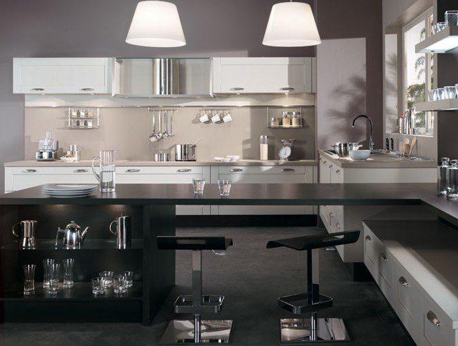 Cuisine avec console bar mod le s r nit - Les cuisines en aluminium ...
