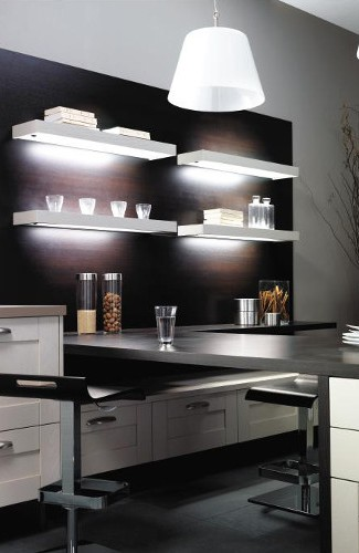 cuisine avec console bar mod le s r nit. Black Bedroom Furniture Sets. Home Design Ideas
