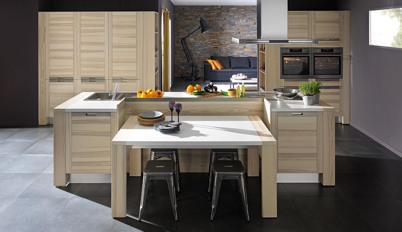 Cuisine Arthur Bonnet Rouen cuisine bois - modèle design attitude