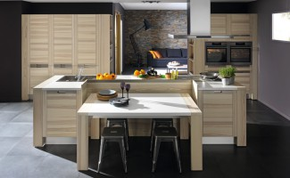 cuisine design en bois attitude