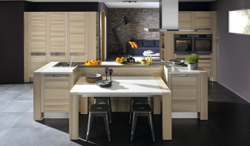 cuisines quip es cuisines am nag es cuisine moderne design bois. Black Bedroom Furniture Sets. Home Design Ideas