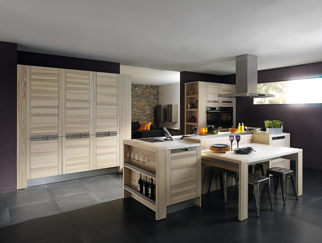meubles contemporains bois cuisine ouverte attitude. Black Bedroom Furniture Sets. Home Design Ideas