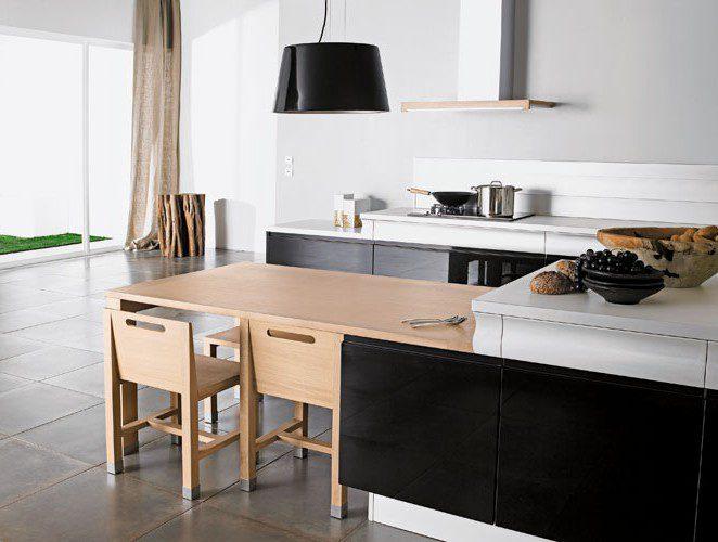 une cuisine noire et conviviale rendez vous par thibault desombre. Black Bedroom Furniture Sets. Home Design Ideas