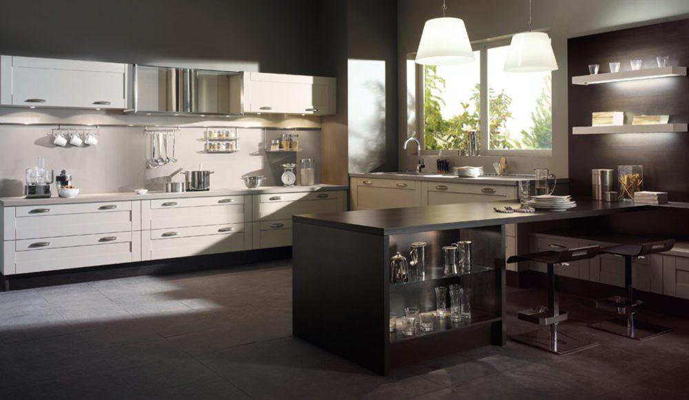 Cuisine avec console bar mod le s r nit - Les dernier modele de cuisine ...