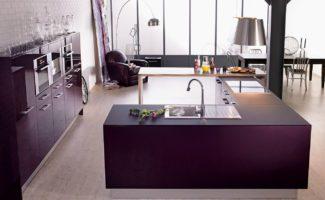 cuisine equipee laque violette rive droite