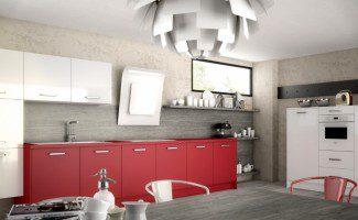 cuisine moderne rouge harmonie