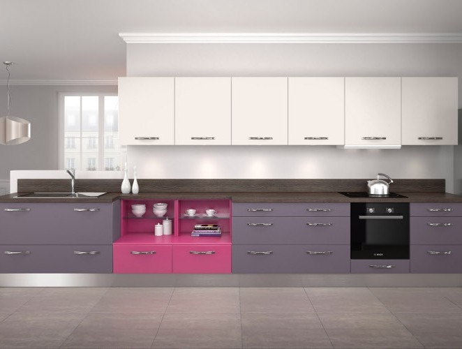 Cuisine Quip E Moderne Violette Mod Le Harmonie M Lamin