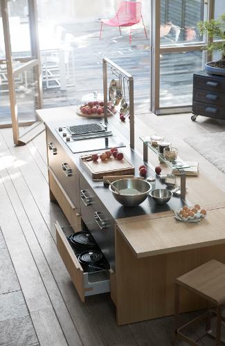 ilot de cuisine style atelier metisse thibault desombre