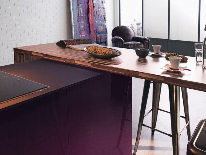 ilot de cuisine violette-rive droite