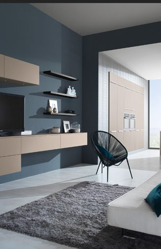cuisine avec plan de travail compl mentaire mod le harmonie m lamin. Black Bedroom Furniture Sets. Home Design Ideas