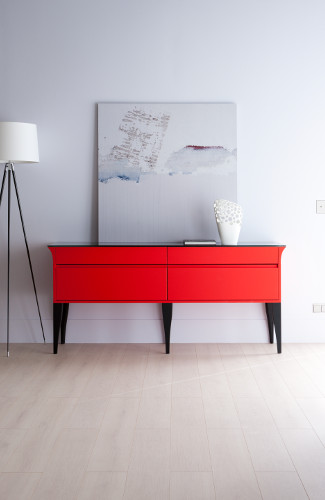 commode rouge alice christian ghion