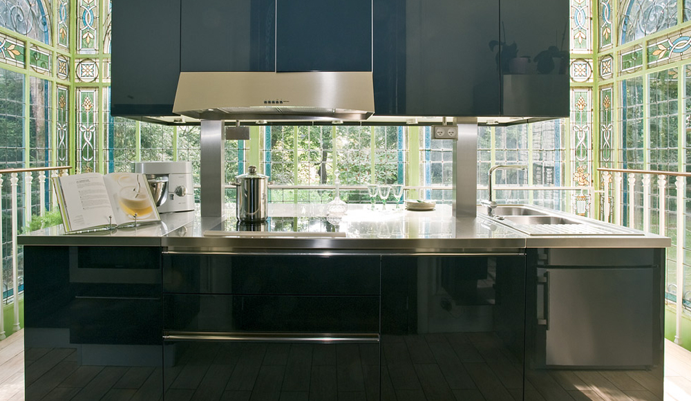 Cuisine contemporaine brillante avec lot mod le rive gauche for Modele de cuisine design italien