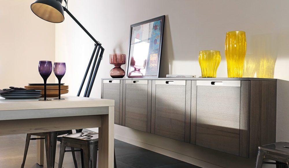 meubles contemporains bois - cuisine ouverte attitude - Meuble De Rangement Salle A Manger