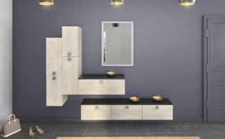 meubles de rangements en bois égerie