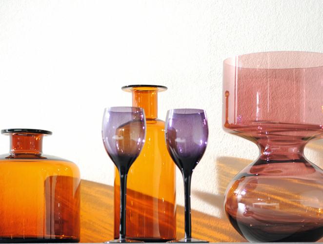 vases oranges salle à manger bois attitude