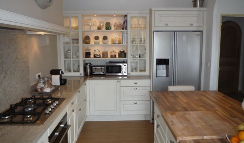 cuisine blanche plan de travail bois ~ meilleures images d ... - Cuisine Blanche Et Plan De Travail Bois