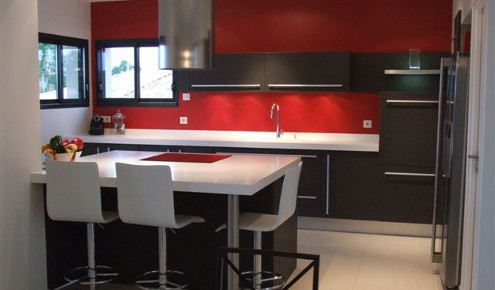 Awesome Cuisine Rouge Et Noir Gallery  Design Trends
