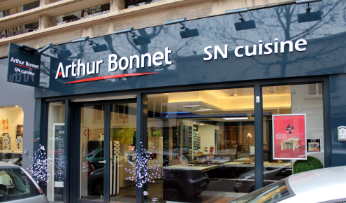 facade magasin cuisines arthur bonnet rouen