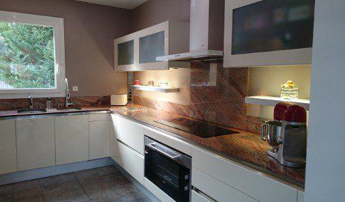 plan de travail de cuisine en marbre aix-en-provence