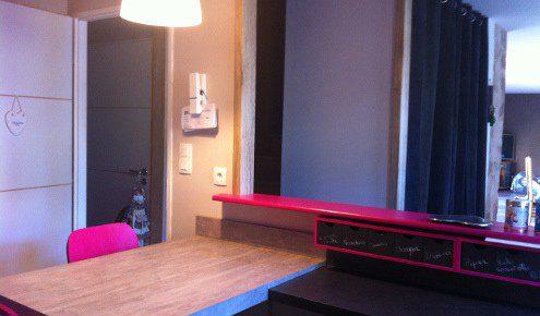cuisine avec bar rose rodez