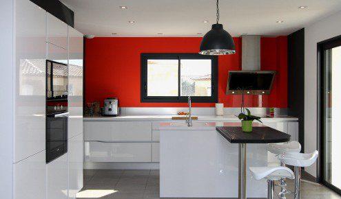 cuisine blanche et rouge beziers