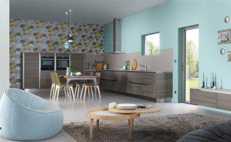 cuisine moderne en bois dialogue