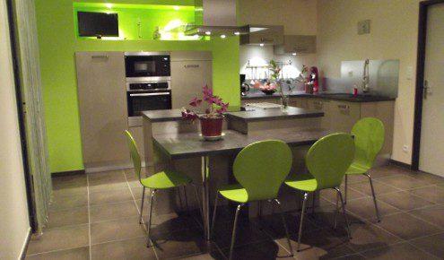 Cuisine Vert Stunning Decoration Cuisine Orange Et Vert Ideas   Cuisine  Verte Et Grise