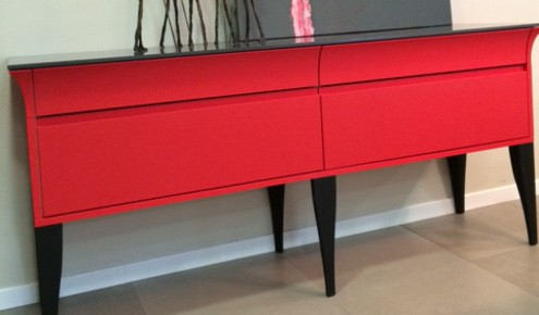 commode rouge cuisiniste ermont
