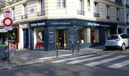 façade magasin de cuisines paris 13ème
