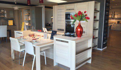 cuisine design en bois lessay