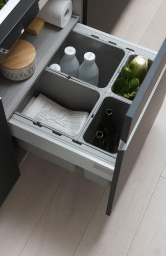 tiroirs de cuisine ergonomique