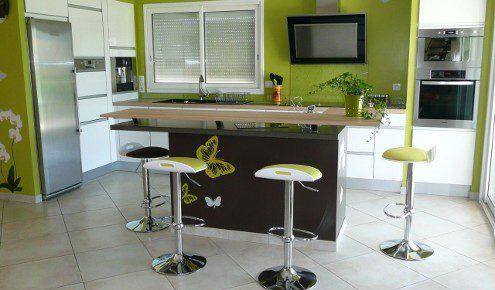 Cuisine am nag e r alisations yssingeaux - Table de cuisine fixee au mur ...