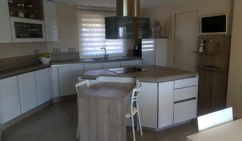 cuisine moderne blanche beziers