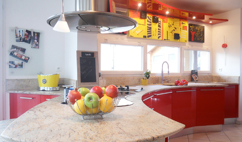 cuisine moderne rouge yerres