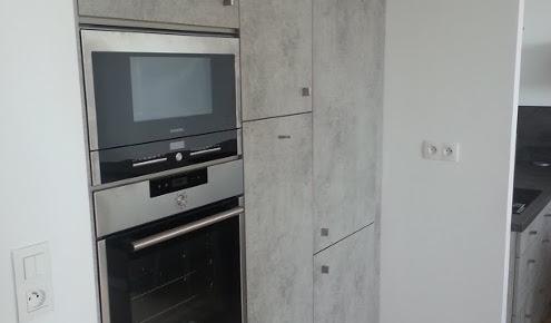 meubles de cuisine gris troyes