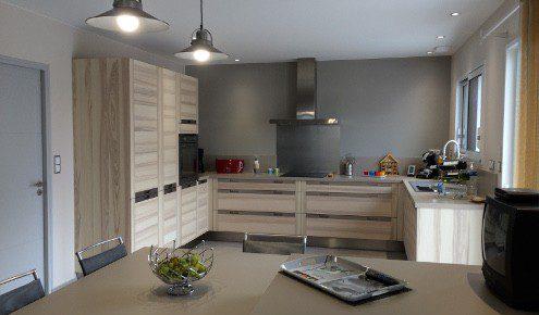 cuisine design en bois roche-sur-yon