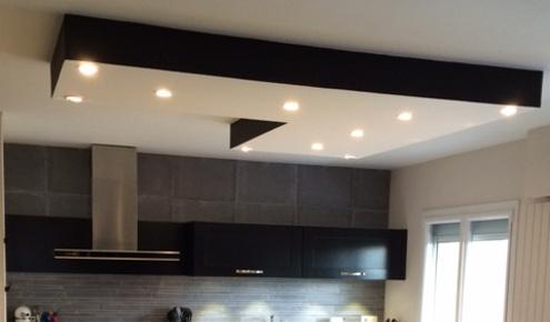 plafond lumineux cuisine