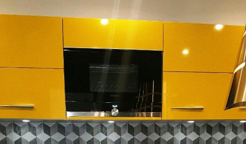meubles cuisine jaunes nice