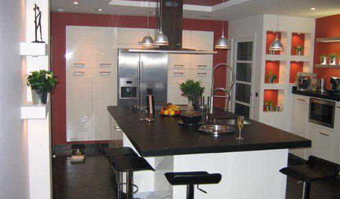 Cuisine plan de travail gris valdiz for Cuisine blanche plan de travail gris