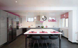 cuisine epuree grise rose versailles