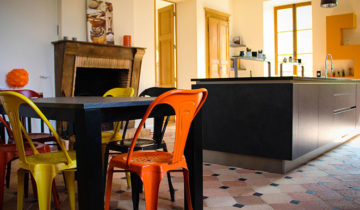 cuisine moderne ilot central laval