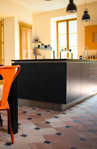 ilot central gris cuisine laval