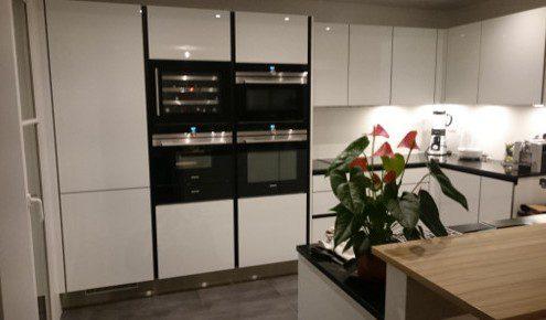 meubles cuisine blanc brillant rueil