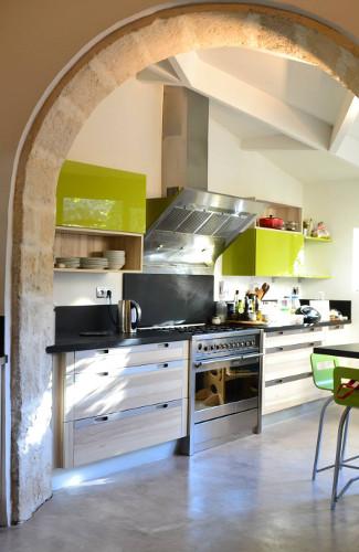 cuisine meubles hauts vert pomme avignon