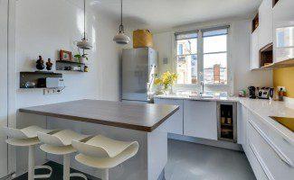 cuisine moderne ilot epi paris 17