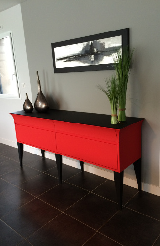 commode design rouge la roche-sur-yon
