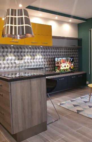 meuble tv contemporain cr ation sur mesure. Black Bedroom Furniture Sets. Home Design Ideas