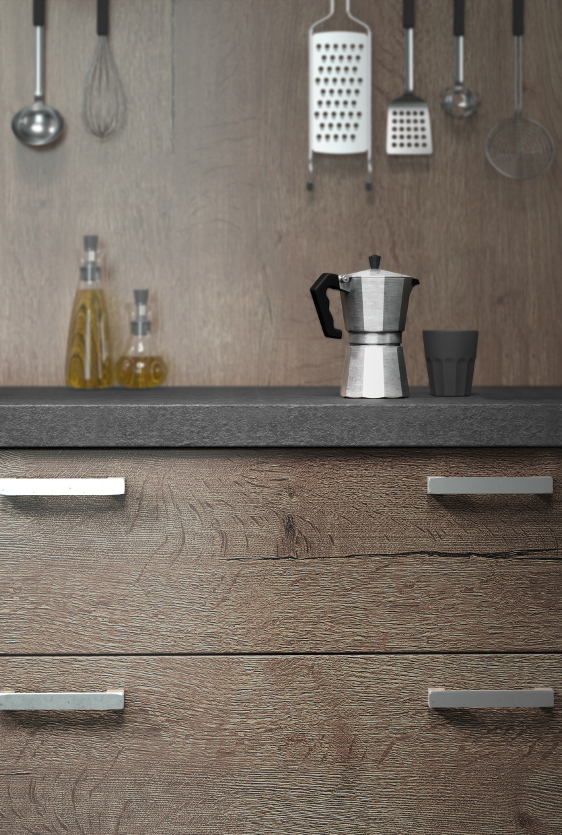 cuisine quip e ouverte esprit loft mod le harmonie. Black Bedroom Furniture Sets. Home Design Ideas