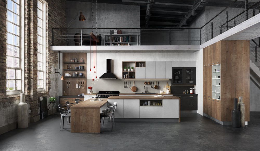 Cuisine quip e ouverte esprit loft mod le harmonie - Les plus belles cuisines ouvertes ...